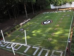Backyard Sports Football Former Georgia Football Player Builds Replica Sanford Stadium In