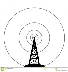 radio tower vector radio tower broadcast stock vector illustration of design