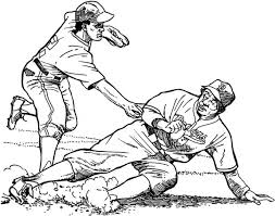 los angeles dodger sliding baseball coloring page purple kitty
