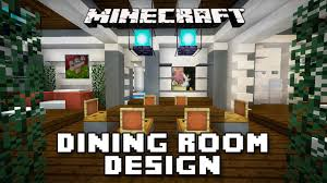 minecraft tutorial how to make dining room furniture modern
