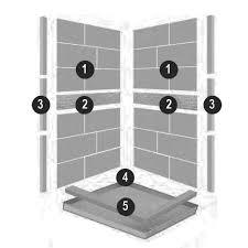 corner sonoma shower kit american bath factory