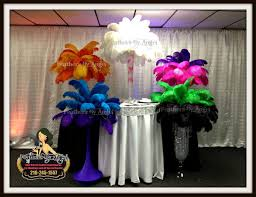 ostrich feather centerpieces feathers by angel rent ostrich feather centerpieces cleveland