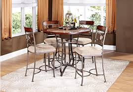 jasmine terrace metal 5 pc counter height dining set with stone