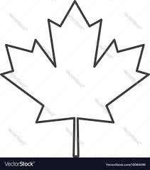 canada flag maple leaf icon royalty free vector image