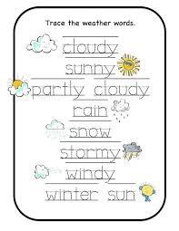 preschool weather worksheets worksheets