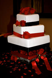 Red And Silver Wedding White And Silver Wedding Cake Idea In 2017 Bella Wedding