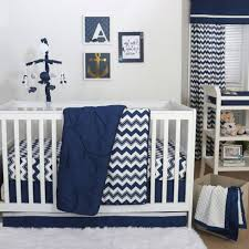 Zig Zag Crib Bedding Set Navy Crib Blanket 3 The Peanut Shell 3 Baby Crib Bedding