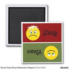 clean emoji emoji clean dirty dishwasher flip over kitchen magnet dirty side