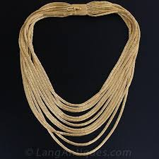multi gold necklace images 18k gold multi strand italian necklace jpg