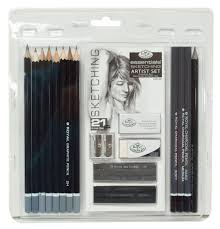 amazon com royal u0026 langnickel essentials sketching pencil set 21
