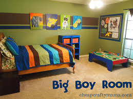 boys bedroom with painted walls and wooden furniture view awesome