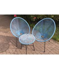 Egg Bistro Chairs Egg Bistro Set Blue Odl Outdoor Living