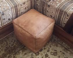 Etsy Ottoman Leather Ottoman Etsy