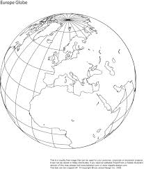 Africa Blank Map by World Globe Showing North America Download And Use For Schools Or