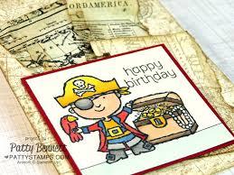 pirate map birthday card patty u0027s stamping spot