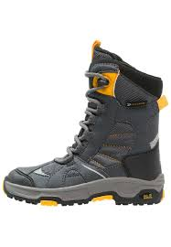 wolfskin snow ride texapore winter boots burly yellow