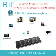 android keyboard with microphone 2 4g rii mini i13 mic speaker wireless keyboard with air fly mouse