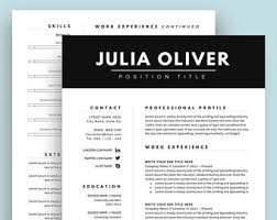 Two Page Resume Resume Template Cv Template For Word Two Page Resume Cover