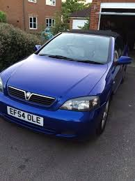 2004 vauxhall astra coupe convertible blue 2 2l automatic in