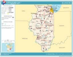 of illinois map illinois