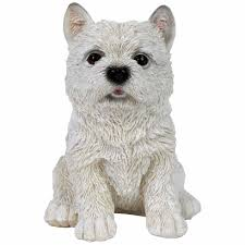 oscar the realistic 17cm sitting west highland terrier puppy