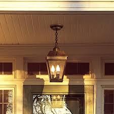 Exterior Pendant Light An Exterior Pendant Light Illuminates Front Entry Porch Brass