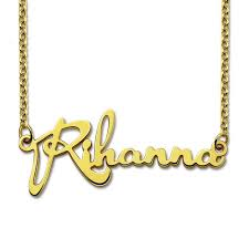 customized name necklace gold color personalized name necklace customized