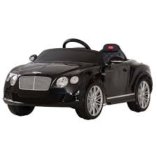 black bentley bentley continental gt licensed 12v electric ride on car black
