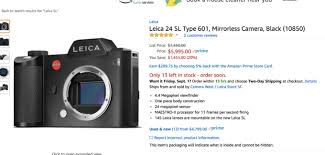 amazon black friday camera do not buy this leica sl on amazon u2013 steve huff photo