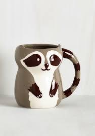 Cute Coffee Cups Bandit Together Mug Multi Multi Critters Woodland Creature