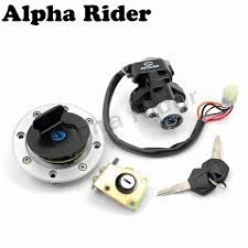 ignition switch fuel gas tank cap cover seat lock key set for