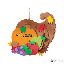 cornucopia door sign thanksgiving craft kit