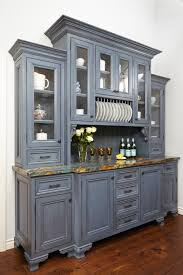 kitchen hutch designs this gray kitchen hutch is a perfect neutral accent to a bright