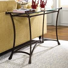 Dark Cherry Sofa Table by Furniture Appealing Contemporary Sofa Table Glass Top Hammary