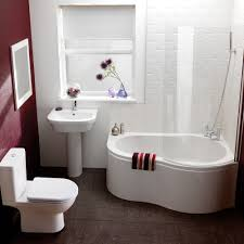 Small Bathroom Space Ideas by Bathroom Chic Small Bathroom Space Idea With Screened Bathtub