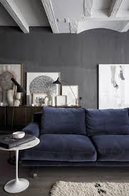 navy blue sofa grey walls living home sweet home pinterest