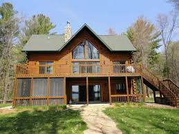 portage county wisconsin log homes for sale