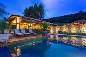 outdoor pool deck stone wall charming rustic house in amarante