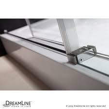 glass shower door splash guard dreamline showers enigma x sliding shower door