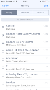 Make A Route Map by Navigating To Favorite History Contact Sygic Gps Navigation