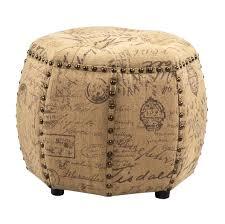 Storage Ottoman Slipcover by Furniture Alluring Monogram Burlap Ott Pouf Diy Monogrammed