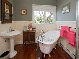 panelled bathroom ideas bathroom design claw foot bath using wood panelling lentine