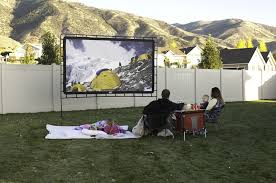 Backyard Movie Night Rental Amazon Com Camp Chef Os 144 Indoor Or Outdoor Giant Movie Screen