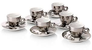cool espresso cups illy reflective espresso cups and saucers glassware pinterest