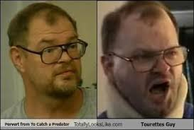 To Catch A Predator Meme - pervert from to catch a predator totally looks like tourettes guy