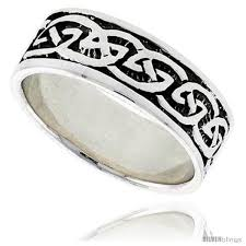 celtic knot wedding bands sterling silver celtic knot wedding band thumb ring 5 16 in wide