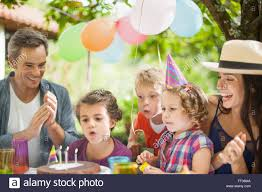 happy family garden garden party with family for little u0027s birthday children