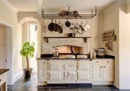 pot rack ideas kitchen farmhouse with black countertop enamel oven