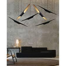 buy coltrane pendant lamp black gold