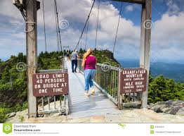 North Carolina natural attractions images Swinging bridge grandfather mountain north carolina editorial jpg